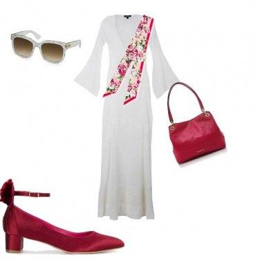 Outfit Panna e ciliegia