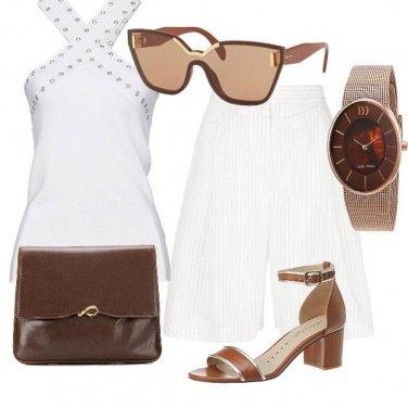 Outfit Cioccolato e panna