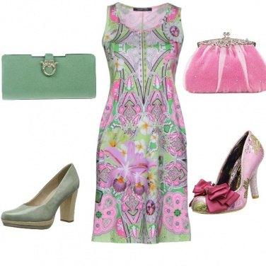 Outfit Rosa e verde giorno e sera