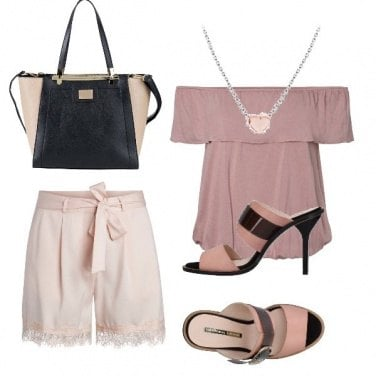 Outfit Cuore rosa