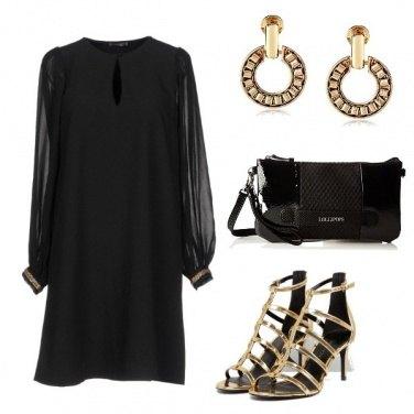 Outfit Oro e nero per la sera