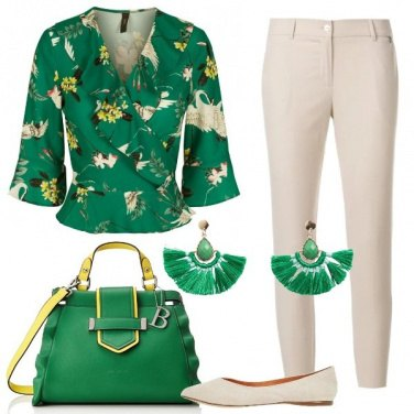 Outfit Bon ton in verde