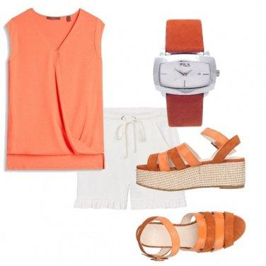 Outfit Orologio arancio