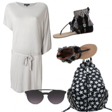 Outfit Casual in bianco e nero