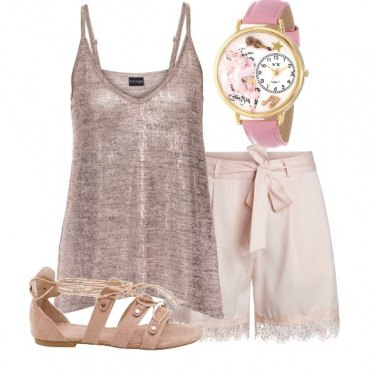Outfit L'orologio rosa