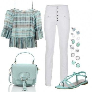 Outfit Turchese estivo