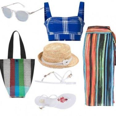 Outfit Basic, al mare con le righe