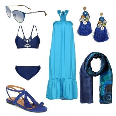 Outfit Turchese al mare