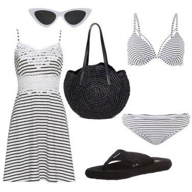 Outfit Bikini a righe