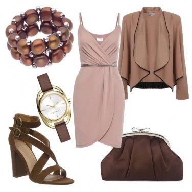 Outfit Un tocco di rosa tra il color cioccolato