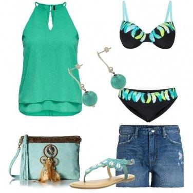 Outfit Aperitivo e tuffo in piscina
