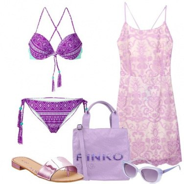 Outfit Relax in lilla