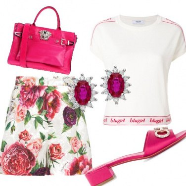 Outfit Panna e lampone
