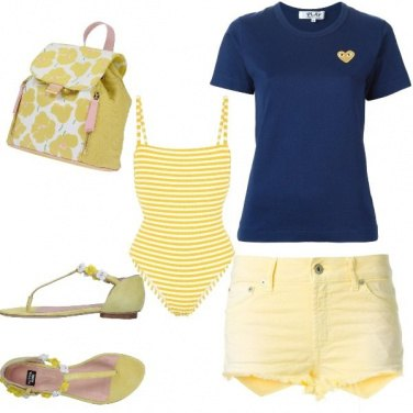 Outfit Giallo mare
