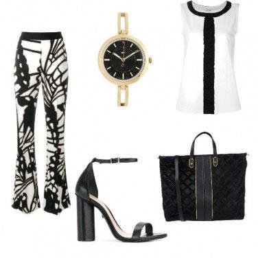 Outfit Ufficio bianco e nero