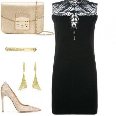 Outfit Tubino nero disco