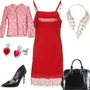 Outfit Tubino rosso primo appuntamento
