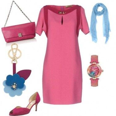 Outfit Tubino rosa in ufficio