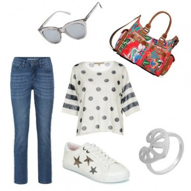 Outfit Casual a contrasto