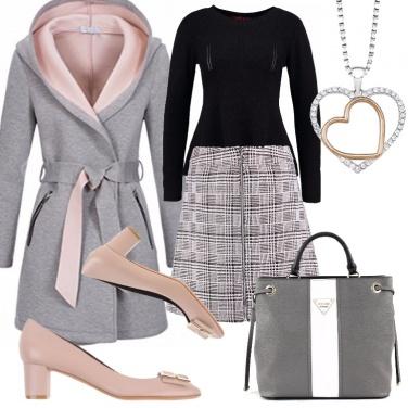 Outfit Il cappottino in felpa