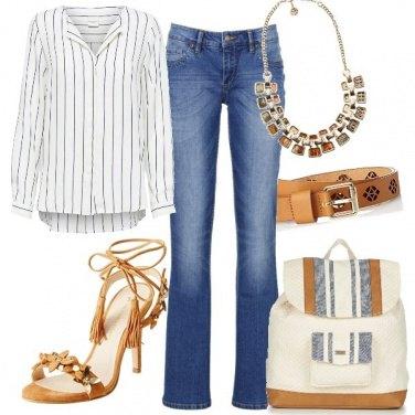 Outfit Denim e tacco a spillo