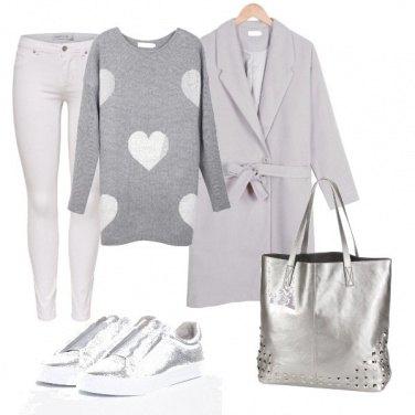 Outfit Grigio e argento