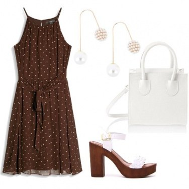 Outfit White and chocolate