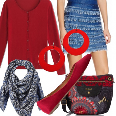Outfit I love red