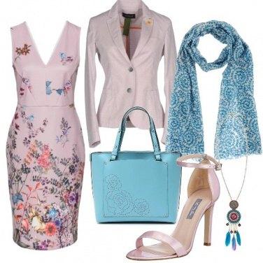 Outfit Lilla e celeste