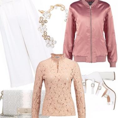Outfit Il bianco e il rosa
