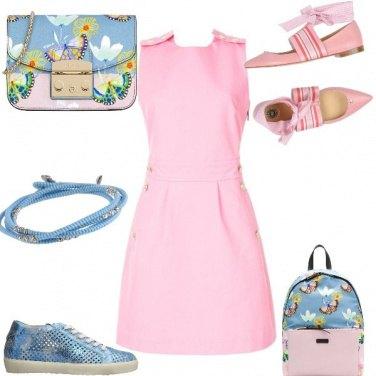 Outfit Rosa farfalla sportivo o elegante