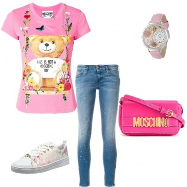 Outfit Jeans +rosa trendy