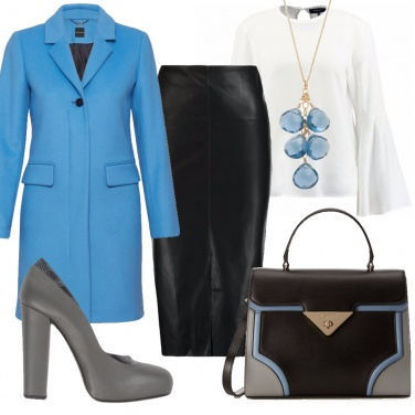 Outfit Il cappotto azzurro