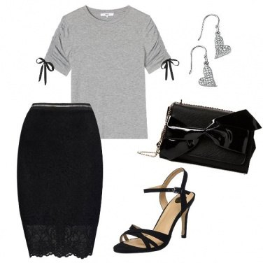 Outfit Pizzo e t-shirt
