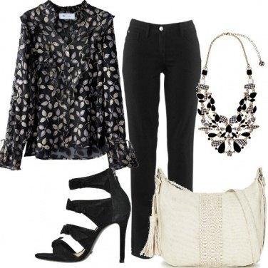 Outfit Chic in camicia e pantaloni
