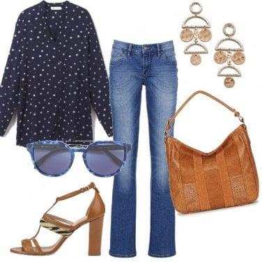 Outfit Tacco comodo e jeans