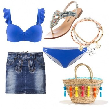 Outfit Bikini blu
