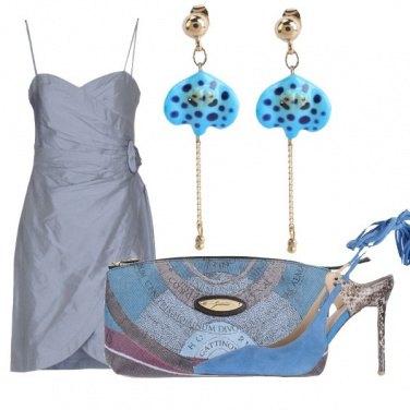Outfit Serata in azzurro