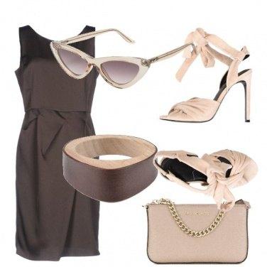Outfit Cioccolato e nudo