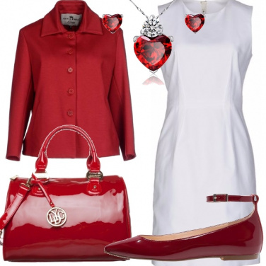 Outfit Rosso panna