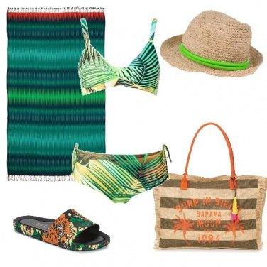Outfit Green Beach
