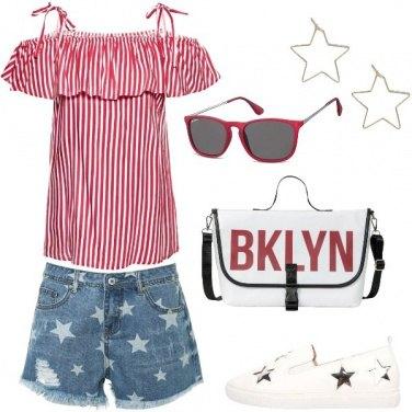 Outfit Orgoglio a stelle e strisce
