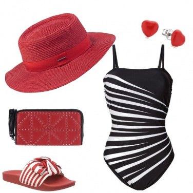 Outfit Mare accessoriato di rosso