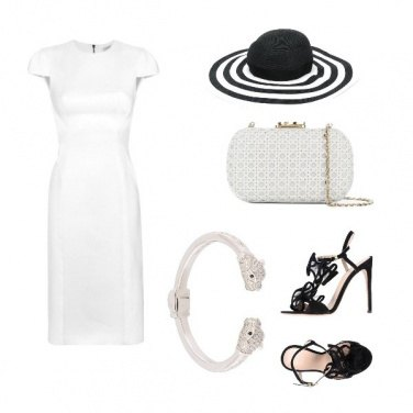 Outfit L\'eleganza del bianco e del nero
