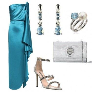 Outfit L\' abito da sera turchese