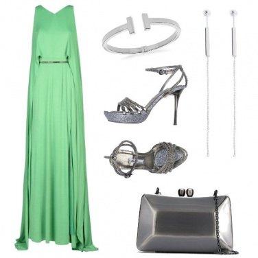 Outfit Il vestito lungo verde