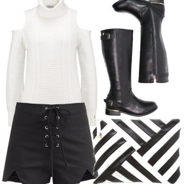 Outfit Black and white.