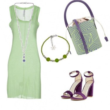 Outfit V V ... Verde e Viola