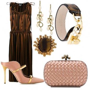 Outfit Cioccolato Rosa e Oro