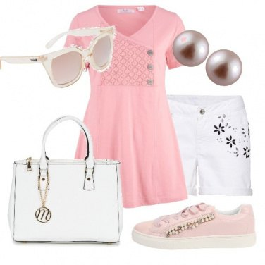 Outfit Delicata in rosa